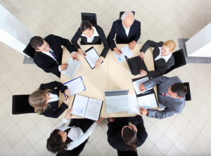 Business people working at meeting.